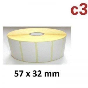 57x 32mm Étiquettes Rouleau de 2100étiquettes Zebra, Citizen, INTERMEC, Tec de la marque c3-etiketten image 0 produit