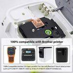 5x Brother Ruban TZe 12mm TZe-B31 TZe-C31 TZe-D31 TZe-231 Ruban Cassette Noir sur Blanc / Jaune / Orang / Vert 12mm x 8m Compatible avec Brother P-touch PT-1000 GL-H105 GL-200 PTE-550WVP Machines d'impression d'étiquettes PT-P700 PT-H300 de la marque KIPE image 1 produit