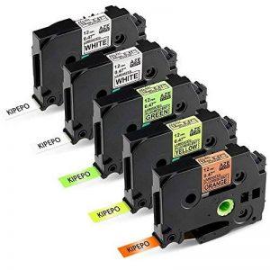 5x Brother Ruban TZe 12mm TZe-B31 TZe-C31 TZe-D31 TZe-231 Ruban Cassette Noir sur Blanc / Jaune / Orang / Vert 12mm x 8m Compatible avec Brother P-touch PT-1000 GL-H105 GL-200 PTE-550WVP Machines d'impression d'étiquettes PT-P700 PT-H300 de la marque KIPE image 0 produit