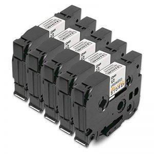 5x Compatible Ruban Cassette Laminé Brother TZe-231 TZ-231 Noir sur Blanc 12mm x 8m pour Tze Tape Brother P-Touch PT-1000 P700 9500 2430 GL-H100 GL-H105 GL-200 PT-1080 PTE-550WVP PT-P700 PT-H300 PT-1005 PT-1010 PT-1090 PT-1200 PT-1250 de la marque Alaskap image 0 produit