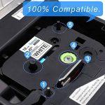 5x TZe Ruban Cassette 12 mm Compatible avec Brother P-Touch PT-H100LB PT-E100 PT- P700 PT-D600VP PT-D400 PT-1000, 8 Meter, Noir sur Blanc/ Rouge/ Bleu/ Jaune/ Vert. de la marque startup image 2 produit