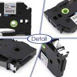 5x TZe Ruban Cassette 12 mm Compatible avec Brother P-Touch PT-H100LB PT-E100 PT- P700 PT-D600VP PT-D400 PT-1000, 8 Meter, Noir sur Blanc/ Rouge/ Bleu/ Jaune/ Vert. de la marque startup image 1 produit