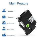 5x TZe Ruban Cassette 12 mm Compatible avec Brother P-Touch PT-H100LB PT-E100 PT- P700 PT-D600VP PT-D400 PT-1000, 8 Meter, Noir sur Blanc/ Rouge/ Bleu/ Jaune/ Vert. de la marque startup image 3 produit