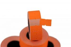 (6rouleaux) Orange 21x 12mm Papier coloré Autocollant Prix Gun Pricemarker étiquettes MX-5500 de la marque Labels image 0 produit