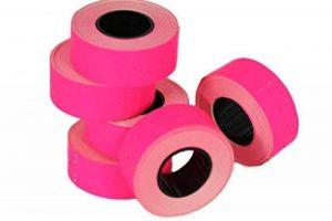 (6rouleaux) Rose 21x 12mm Papier coloré Autocollant Prix Gun Pricemarker étiquettes MX-5500 de la marque Labels image 0 produit