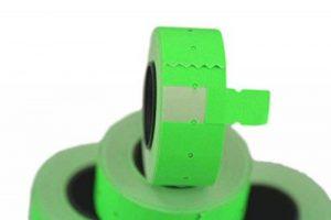 (6rouleaux) Vert 21x 12mm Papier coloré Autocollant Prix Gun Pricemarker étiquettes MX-5500 de la marque Labels image 0 produit
