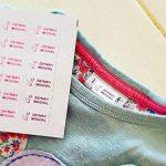 60 x Étiquettes Autocollantes Pour Vêtements, Doudous Et Affaires | Stickers Personnalisés | S'appliquent Sans Couture Ni Repassage de la marque Juste Coller image 2 produit