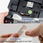 6x Brother P Touch TZ Ruban 12mm Compatible TZe-431 TZe-531 TZe-631 TZe-731 / Tze-931 TZe-335 pour Brother PT 1000 1010 1090 1830VP 2030VP 2100VP 2430PC 2470 2730VP 7100 VP7600VP H100R H300 D200VP de la marque Toprinting image 2 produit