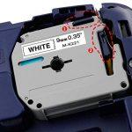6x Ruban Brother P-touch M-K221 M-K121 M-K421 M-K521 M-K621 M-K721, 9 mm x 8 m, pour Etiqueteuse Brother P-touch PT-80, PT-65, PT-90, PT-M95, PT-70BM, PT-85, PT-45, PT-BB4 de la marque Markurlife image 1 produit
