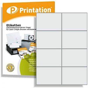 800 Étiquettes autocollantes sur a4 blanc 105 x 74 mm de la marque Printation image 0 produit