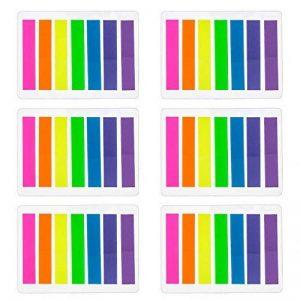 840 Pièces Petits Marqueur de Page Onglets d'Index Marquer les Signets, 8 x 45 mm, 6 Ensembles, 7 Couleurs de la marque Outus image 0 produit