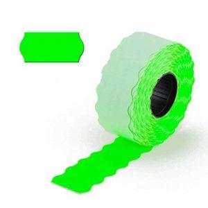 9000étiquettes leuchtgrün, pour étiqueteuse de main 1lignes, permanent, 26x 12mm, 6rouleaux = 9000étiquettes [E1-leuchtgrün] de epo52 de la marque Unbekannt image 0 produit