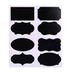 Afufu Étiquette de Tableau Noir 112 Pièces Tableau D'autocollants Amovible Réutilisable Adhésif Tableau avec 2 Marqueurs à Craie pour étiqueter Les Bouteilles, Les Flacons et d'autres Récipients de la marque Afufu image 3 produit