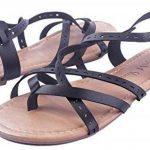 AgeeMi Shoes FemmeCouleur Unie Non Talon Boucle PU Cuir Sandales de la marque AgeeMi-Shoes image 2 produit