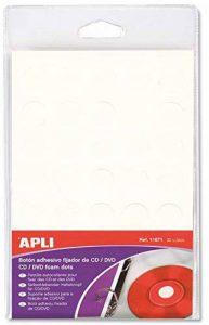 Agipa Etiquette pour CD/DVD pastilles autocollantes diamètre 15 mm Transparent Pochette de 35 de la marque Agipa image 0 produit