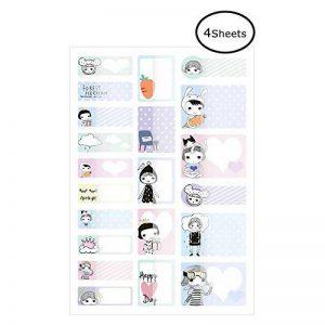 Airmall 4x Enfants Biberons Étiquettes pour Garderie Autocollant Imperméable À L'eau Lave-Vaiselle Autocollant Bouteilles Nom Étiquettes 19.5 x 12 CM de la marque Airmall image 0 produit