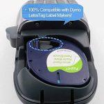 Airmall Lot de 5 Ruban Cassette Équivalent à Dymo Letratag Recharge Dymo 91200 S0721510 Papier Noir sur Blanc 12mm x 4m Compatible avec Dymo LetraTag LT-100H LT-100T LT-110T QX 50 XR XM 2000 Plus de la marque Airmall image 2 produit