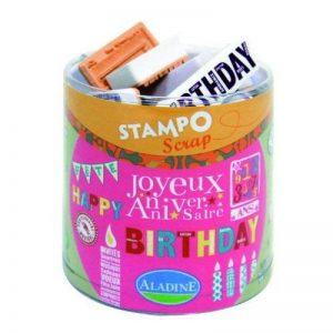 Aladine - 03706 - Tampons À Imprimer - Stampo Scrap - Anniversaire de la marque Aladine image 0 produit