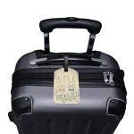 ALAZA Salutations de Pâques Lapins de lapin fleur vintage Étiquette de bagage PU Sac en cuir Tag ID Voyage Suitcases IdentifiChateur d'étiquetage des bagages de la marque ALAZA image 3 produit