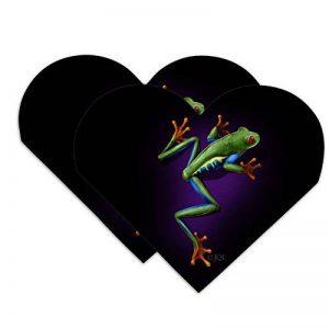 Amérique du Sud Arbre Grenouille Neon Cœur simili cuir Marque-page–Lot de 2 de la marque Graphics and More image 0 produit