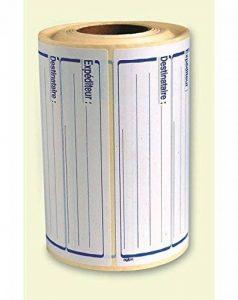 Apli-Agipa 11746 Rouleau de 500 Etiquettes courrier expéditeur-destinataire 125 x 65 mm adhésif permanent de la marque Apli image 0 produit