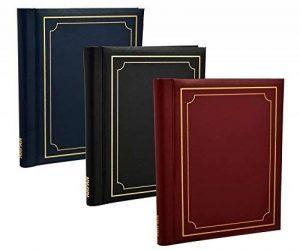 Arpan pack de 3 albums photo autoadhésifs Arpan totalisant 60 feuilles 120 faces (noir / bleu / rouge) ... de la marque ARPAN image 0 produit