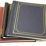 Arpan pack de 3 albums photo autoadhésifs Arpan totalisant 60 feuilles 120 faces (noir / bleu / rouge) ... de la marque ARPAN image 2 produit
