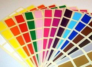 Audioprint Ltd. 20 x 30mm Rectangles code couleur identité Poids autocollants de prix vierges étiquettes autocollantes - Or, 20 x 30mm de la marque Audioprint Ltd. image 0 produit