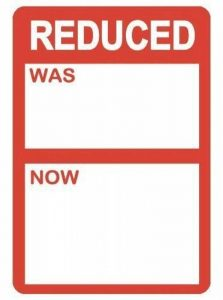 "Audioprint Ltd Pack de 1000 Etiquettes Promo : ""Reduced Was / Now"" - 25 x 38mm de la marque Audioprint Ltd. image 0 produit"