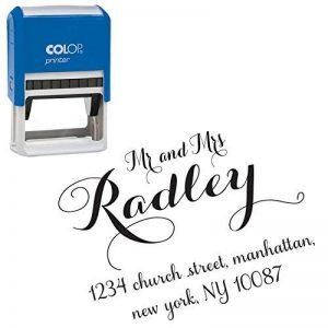 Auto-encrage adresse de retour timbre personnalisé encre Stamper Tampons encreurs personnalisés Design By Printtoo de la marque Printtoo image 0 produit