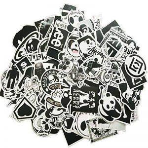 Autocollant [100-pcs] Graffiti Autocollant, Autocollant vinyle, Autocollant aléatoire, Parfait pour ordinateur portable, les planches à roulettes, les bagages, les voitures, les pare-chocs, les vélos, la moto, le casque, la fenêtre, la guitare, le snowboa image 0 produit