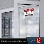Autocollants dissuasifs Alarme Stickers Alarme sécurité 6x8cm Lot DE 12 Autocollants de la marque CeenoSign image 2 produit