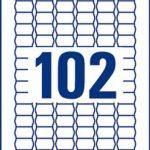 Avery 2040 Etiquettes Autocollantes de Prix Amovibles (102 par Feuille) - 26x16mm - Impression Laser, Jet d'Encre (L7115REV) de la marque Avery image 2 produit