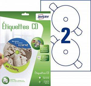 Avery 30 Etiquettes Autocollantes pour CD Maxi couvrantes - Impression Jet d'Encre - Blanc (J8676) de la marque Avery image 0 produit