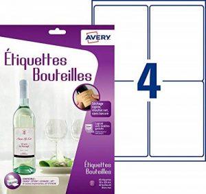 Avery 40 Etiquettes pour Bouteilles - 120x90mm - Impression Jet d'Encre - Blanc (C9269) de la marque Avery image 0 produit