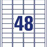 Avery Dennison L4736REV-10 Étiquettes universelles réutilisables Blanc 45.7 x 21.2 mm 10 feuilles (Import Allemagne) de la marque Avery image 3 produit
