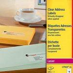 Avery Ref L7562-25 Étiquettes adresse transparentes Laser 99,1 x 33.9 mm 16 étiquettes/feuille 400 étiquettes total (Import Royaume Uni) de la marque Avery image 2 produit