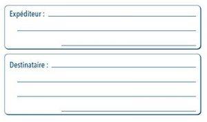 Avery Rouleau de 500 Etiquettes Expéditeur/Destinataire 1 de front - 120x65mm - Blanc (ROEX) de la marque Avery image 0 produit