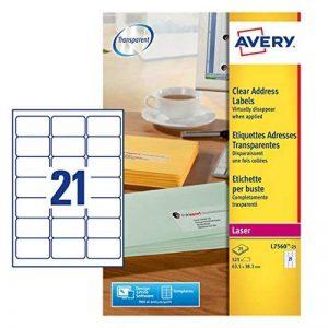 Avery Étiquettes adresse Laser Transparent (Import Royaume Uni) de la marque Avery image 0 produit