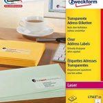 Avery Zweckform L7563-25 Etiquettes transparentes 99,1 x 38,1 mm 25 feuilles (Import Allemagne) de la marque Avery image 1 produit