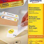 AVERY/Zweckform Stick+Lift étiquettes, 45,7 x 21,2mm,blanches de la marque Avery image 1 produit