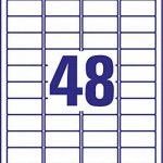 AVERY/Zweckform Stick+Lift étiquettes, 45,7 x 21,2mm,blanches de la marque Avery image 3 produit