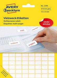 Avery Zweckform étiquette 13x 8WS 384st multi-usage, repositionnable de la marque Avery image 0 produit