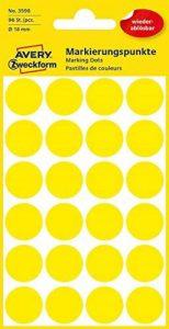 Avery Zweckform étiquette 18mm point de marquage jaune, repositionnable, 96st de la marque Avery image 0 produit