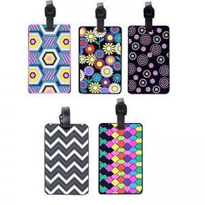 Aveson Lot de 5coloré en PVC, étiquettes d'bagages de voyage carte d'identité support étiquette Bagage Valise à imprimer, multicolore de la marque AVESON image 0 produit