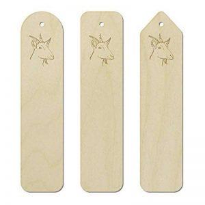 Azeeda 3 x 'Tête de Chèvre' Marque-Pages / signets en Bois (BK00012562) de la marque Azeeda image 0 produit