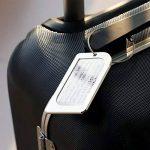 Bagages Étiquettes, Kollea Luggage Tag en Aluminium, 2 Pack Etiquette Valise avec Fenêtre Transparente et Boucle en Acier Inoxydable, Coffret Cadeau, Argent de la marque Kollea image 4 produit