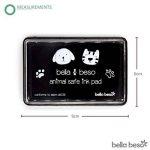Bella Beso pattes de chat et chien pour animal domestique kit–sécuritaire d'encre avec sac à cordon de la marque Bella Beso image 3 produit