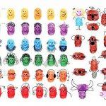 Bestele 24 Couleurs Lavable Tampons Encreurs pour Enfants, D'empreintes Digitales Rainbow Couleur Craft Ensemble de Tampon Encreur pour Tampons en Caoutchouc Partenaire Fabrication de Cartes et Enfants DIY Scrapbooking 24 Colours Stamp Pads de la marque B image 4 produit