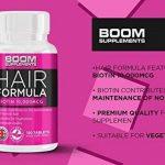 Biotine Cheveux (Vitamine B8) 10 000 mcg | 120 Biotin comprimés | cure de 4 mois | Meilleur Complément pour Favoriser la Croissance Rapide des Cheveux | Idéal : Femmes, Hommes, Végétariens de la marque Boom-Supplements image 2 produit